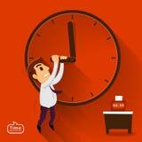 Salaryman stop time Stock Image