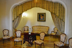 Salas de estar interiores no palácio de Masandra, Crimeia Imagens de Stock