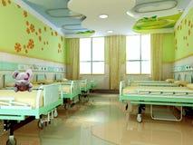 salas de los niños del hospital 3d Imagen de archivo libre de regalías