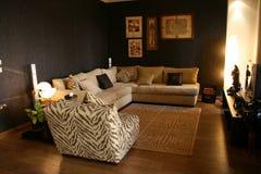 Salas de visitas modernas dos interiores Fotos de Stock Royalty Free