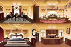 Salas dentro da casa Imagem de Stock