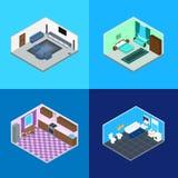 Salas interiores na casa ilustração do vetor