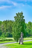 Salaspils Concentration Camp. SALASPILS, LATVIA - May 16, 2018: Monument `The Humiliated` on the Place of Former Salaspils Concentration Camp. Autor Oleg royalty free stock photo