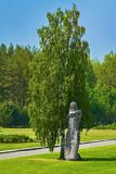 Salaspils Concentration Camp. SALASPILS, LATVIA - May 16, 2018: Monument `The Humiliated` on the Place of Former Salaspils Concentration Camp. Autor Oleg stock photography