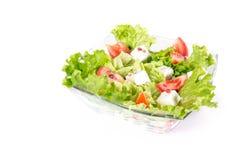 Salat在白色背景隔绝了。 库存照片