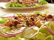 salat海鲜 免版税库存图片