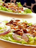 salat海鲜 免版税库存照片