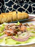 salat海鲜 图库摄影