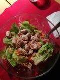Salat用肉 库存照片