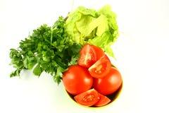 salat蕃茄 图库摄影