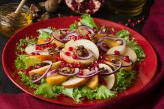 Salat свежих фруктов с perssimons и венисой Стоковые Изображения RF