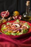 Salat свежих фруктов с perssimons и венисой Стоковое фото RF