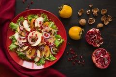 Salat свежих фруктов с perssimons и венисой Стоковые Изображения