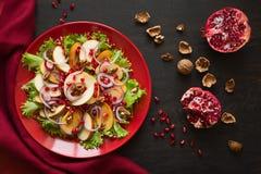 Salat свежих фруктов с perssimons и венисой Стоковое Изображение RF
