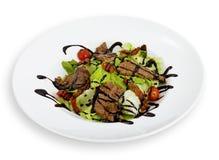 Salat auf einer Platte stockfotografie
