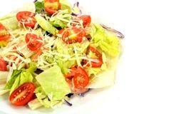Salat auf einer Platte Stockfotos