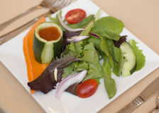 Salat auf einer Platte Lizenzfreie Stockfotografie