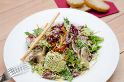 Salat auf Hintergrund Lizenzfreie Stockfotografie