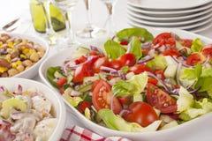 Salat-Buffet Lizenzfreie Stockfotos