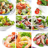 Salat-Collage Stockfotos