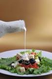 Salat con il formaggio di feta e la verdura fresca Fotografia Stock Libera da Diritti