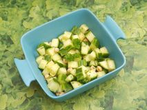 Salat of cucumber Royalty Free Stock Photo
