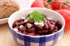 Salat der Bohnen Stockfoto