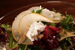 Salat in der Glasplatte Lizenzfreies Stockfoto