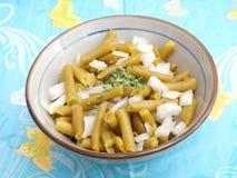 Salat der grünen Bohnen lizenzfreies stockfoto