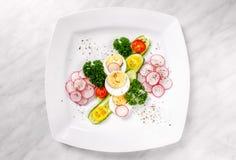 Salat der Gurke und des Rettichs Lizenzfreies Stockbild