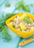 Salat der Hühnerbrust mit Ananas Lizenzfreie Stockfotos