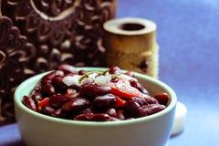 Salat der roten Bohnen Stockbild