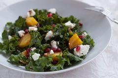 Salat der roten Rübe, des Ziegenkäses und des Granatapfels mit Kohl Lizenzfreies Stockfoto