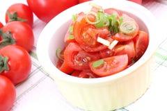 Salat der Tomaten Stockbild