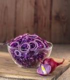 Salat des blauen Kohls Lizenzfreie Stockbilder