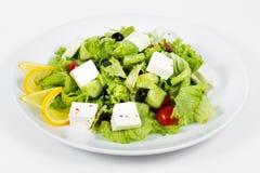 Salat des frischen Kohls und des fetaksa stockfotografie