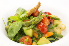 Salat des gedämpften Gemüses stockfotografie