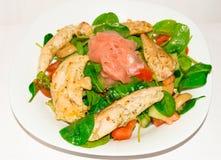 Salat des Huhns, des Gemüses und des Ingwers Stockbild