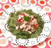 Salat des Löwenzahns stockbild