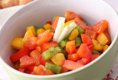 Salat des Paprikas lizenzfreies stockbild