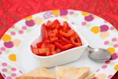Salat des Paprikas lizenzfreie stockbilder