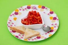 Salat des Paprikas stockfotografie