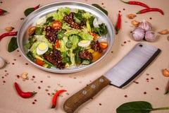 Salat des Rindfleisches und des Kopfsalates Lizenzfreies Stockbild