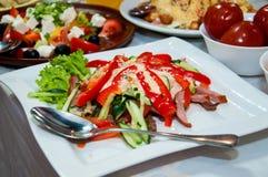 Salat des Schinkens und des Pfeffers Lizenzfreies Stockbild