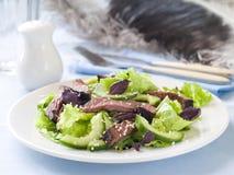 Salat des Straußes (Rindfleisch) lizenzfreies stockbild
