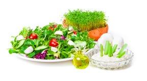 Salat, Dressing, Öl Royalty Free Stock Images