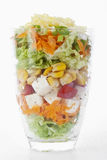 Salat in einem Glas Lizenzfreie Stockbilder