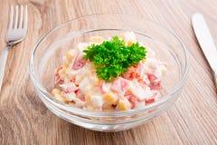 Salat in einer Schüssel Lizenzfreies Stockbild