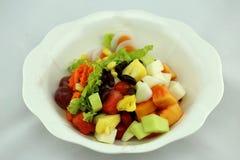 Salat essen gesunden Körper Lizenzfreie Stockbilder
