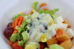 Salat essen gesunden Körper Lizenzfreie Stockfotografie